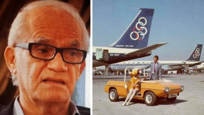 The inventor of the first electric car, Konstantinos Adraktas, has died