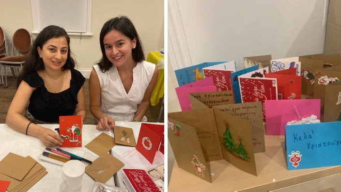 The Smile Project: Greek Australian youth send Christmas cards to the elderly in nursing homes