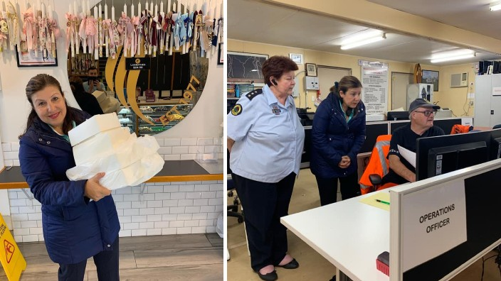 Sophie Cotsis MP brightens spirits of SES volunteers in Canterbury with Greek sweets