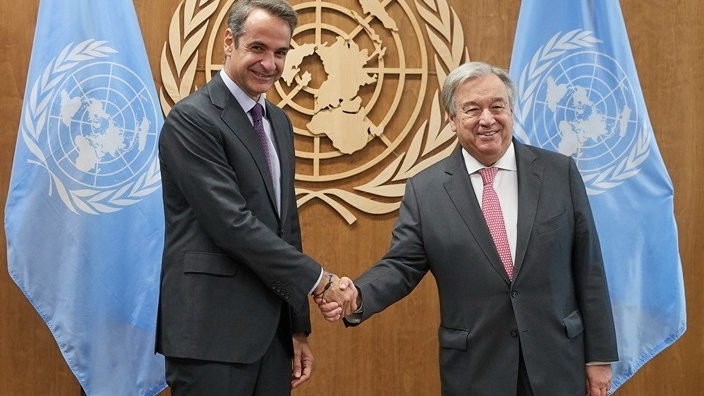 Greek PM meets with United Nations Secretary-General in New York