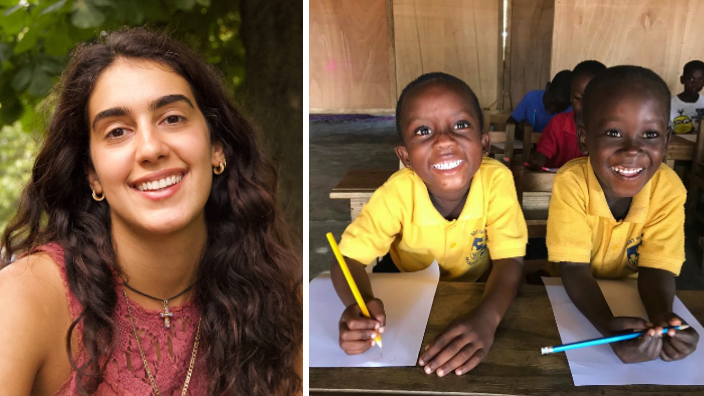 Sydney lawyer, Anais Menounos, offers free education to disadvantaged children in Ghana
