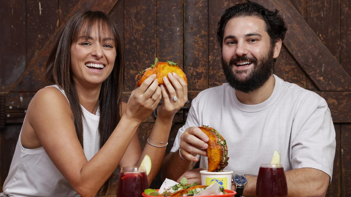 Anna Mavromatis and Ben Calabro's new 'wet taco' is taking Sydney by storm